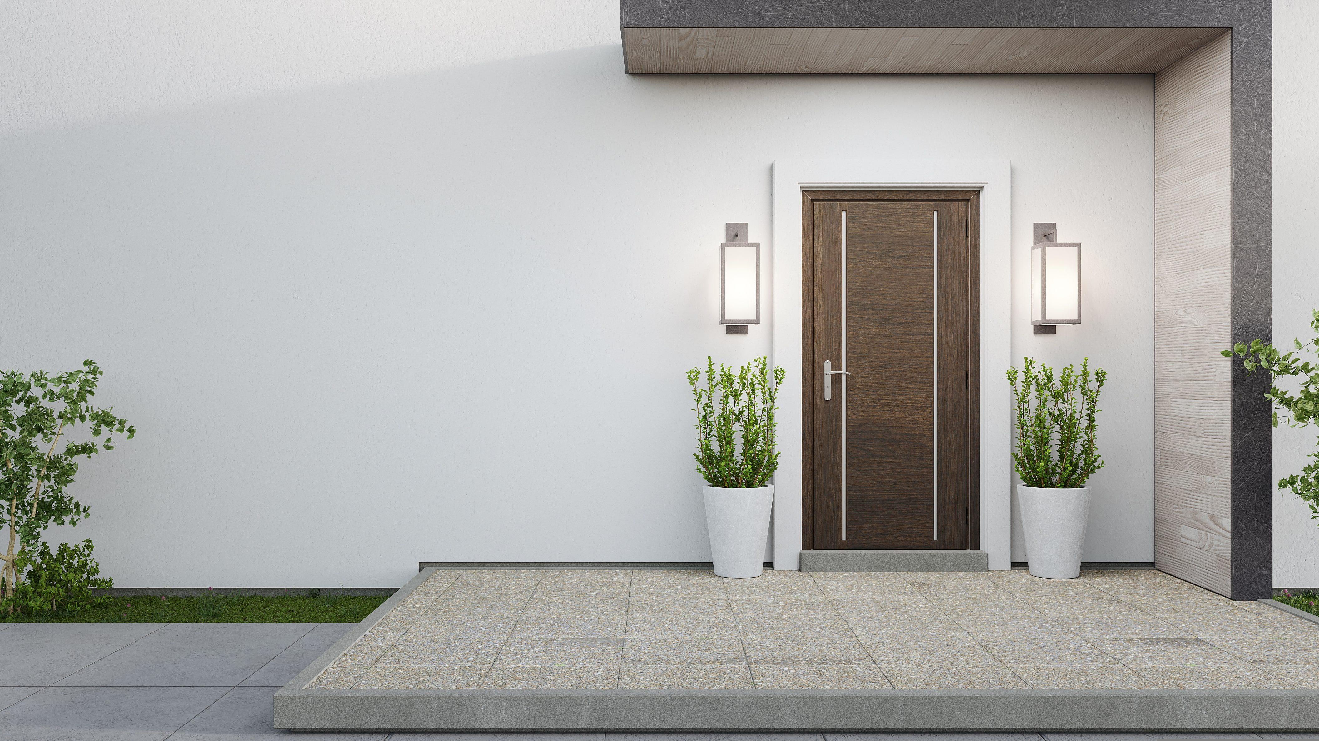 Moderné vchodové drevené dvere